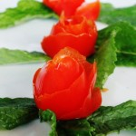 Tomato Rose, Mint, Garnish, Food Photography, Food Styling